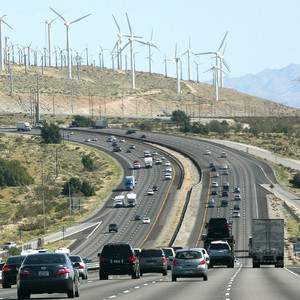 Traffic and wind turbines