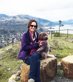 Lucy Brehm at the Gorge with Bijou