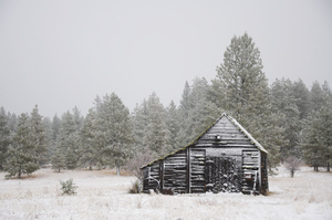 Sam Beebe Wallowa County Blacksmith Shop Snow